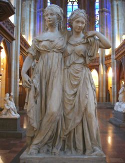 de zusjes door Johann Gottfried Shadow (gipsmodel 1795)
