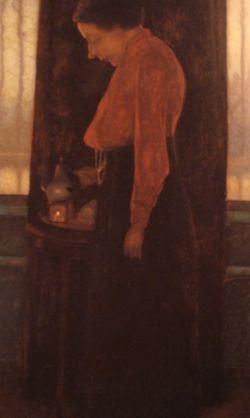 mevrouw Mankes schenkt thee (1915)