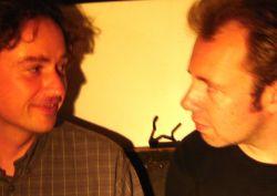 Bernhard Christiansen (links) met Ingmar Heytze
