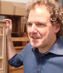 Frank in het atelier