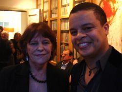 Yvonne van Doorn en redacteur Alfred Schaffer