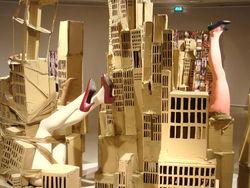 de Zuidas volgens Isabelle - deel van een maquette te zien inde Kunstkapel