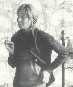 Fritzi ten Harmsen van der Beek (uitsnede uit foto Tajiri, 1967)