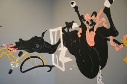 werk van Kees Peerdeman, nu te zien in het ''Dolhuys' in Haarlem