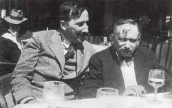 Stefan Zweig en Joseph Roth in Oostende, zomer 1936.